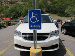 Wheelchair-accessible rental parked at Ruth's Diner, Emigration Canyon, UT