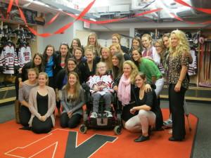 Northeastern University Women's Hockey Team and Marianne